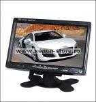 "Display auto LCD 7"" 12V - 24V D707 cu telecomanda si rama montaj perete"