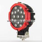 Proiector LED Auto Offroad 51W/12V-24V, 3740 Lumeni, Rosu, Spot Beam 30 Grade