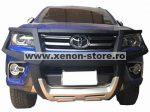 Bullbar poliuretan cu protectie faruri Toyota Hilux Revo 2015, 2016, 2017 TYA406