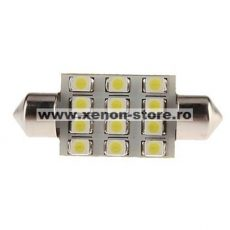 Led auto sofit cu 12 SMD 3528 39 mm - BTLE3152