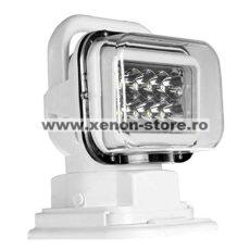 Proiector LED Rotativ cu Telecomanda Wireless 50W, 4000 lumeni, SPOT Beam, Alb