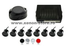Senzori parcare fata spate cu temporizare cu 8 senzori si avertizare sonora CRS8500A