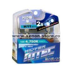 SET 2 BECURI AUTO H11 MTEC COSMOS BLUE WHITE - XENON EFFECT