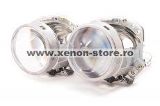 """Lupe Bixenon 3"""" tip Hella EvoX-R E55 H7 pentru becuri H7 cu xenon, LED sau halogen"""