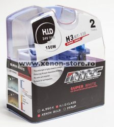 SET 2 BECURI AUTO H3 24V 70W MTEC SUPER WHITE - XENON EFFECT