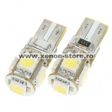 Led auto T10 Canbus cu 5 SMD