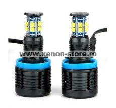 Set 2 Led Marker H8 96W Can Bus cu Leduri Cree