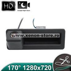 Camera marsarier HD, unghi 170 grade, cu StarLight Night Vision pentru E39, E60, E90, E70 pe manerul de portbagaj - FA936