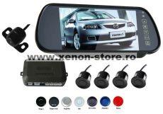 """Senzori parcare cu camera video si display LCD de 7"""" in oglinda S608"""