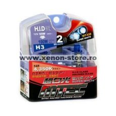 SET 2 BECURI AUTO H3 MTEC SUPER WHITE - XENON EFFECT