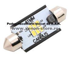 Led Auto Sofit 41mm Canbus 6 SMD 3020 fara polaritate - BTLE1276