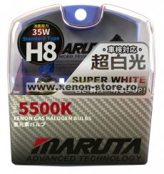 SET 2 BECURI AUTO H8 MARUTA SUPER WHITE - XENON EFFECT