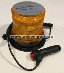 Girofar magnetic cu LED 12V - 24V Rotativ + Stroboscop JSM-127