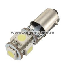 Led auto BAX9S Canbus cu 5 SMD