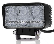 Proiector LED Auto Offroad 18W/12V-24V, 1320 Lumeni, Dreptunghiular, Spot Beam 30 Grade