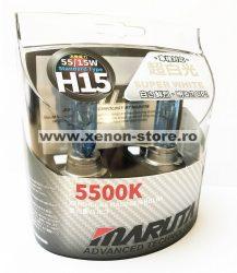 SET 2 BECURI AUTO H15 MARUTA SUPER WHITE - XENON EFFECT