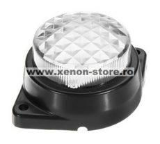 Lampa laterala / gabarit cu LED 24V Alba cu 6 Leduri #124