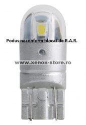 Led auto T10 (W5W) Alb, rezistent la apa, fara canbus T10-3030-2