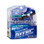 SET 2 BECURI AUTO H3 MTEC COSMOS BLUE WHITE - XENON EFFECT