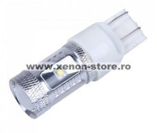 Led auto T20 (7443) Canbus 30W 12-24V Leduri CREE cu dubla intensitate