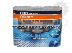 Set 2 Becuri auto halogen Osram HB3 Cool Blue Intense,+20%, 55W, 12V