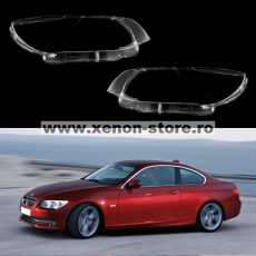 Set 2 sticle faruri pentru BMW Seria 3 E92/E93 Coupe/Cabrio Facelift LCI (2009 - 2013) - HB017