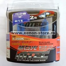 SET 2 BECURI AUTO H15 MTEC SUPER WHITE - XENON EFFECT