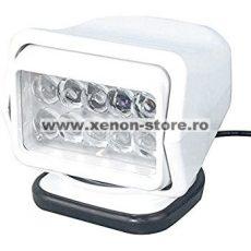 Proiector LED Rotativ cu Telecomanda Wireless 50W, 4000 lumeni, SPOT Beam, Alb - A4SX-50-ALB
