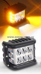 Proiector LED Auto Offroad Dreptunghiular 60W/12V-24V, 5100 Lumeni, Spot Beam