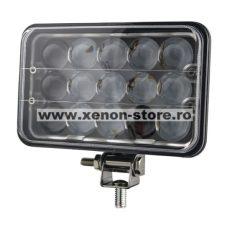 Proiector LED cu doua faze 45W/12V-24V, 3300 Lumeni, Dreptunghiular, Spot Beam 30 Grade