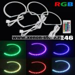 Kit Angel Eyes LED SMD BMW E36 RGB cu 16 culori cu telecomanda