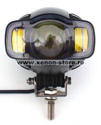 Proiector LED ATV, Moto putere 20W, 2000 Lm, cu incarcator USB